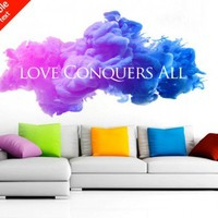 Love Conquers All - Moon Wall Stickers