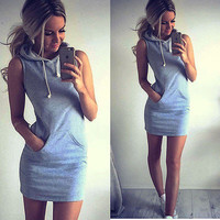 Hoodie Short Shirt Mini Dress