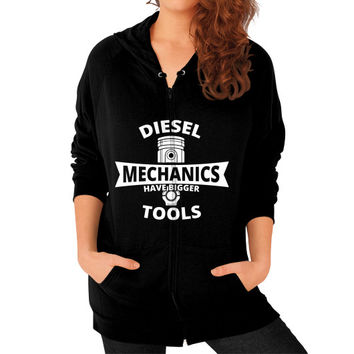 Diesel mechanics Zip Hoodie (on woman)