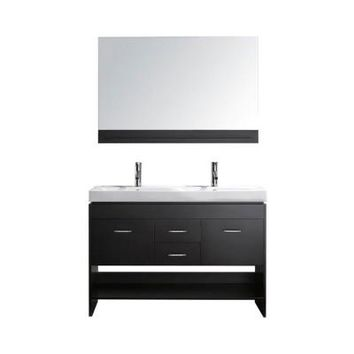 Virtu USA Gloria 48 in. Double Basin Vanity in Espresso with Porcelain Vanity Top in White and Mirror-MD-423-C-ES at The Home Depot