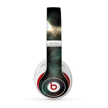 The Dark Green Glowing Universe Skin for the Beats by Dre Studio (2013+ Version) Headphones
