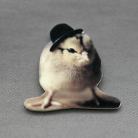 Chick In A Black Bowler Hat Magnet