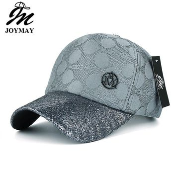 JOYMAY 2017 New arrival high quality fashion snapback cap with shining visor metal M for women baseball cap  B424
