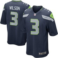 Nike Russell Wilson Seattle Seahawks Game Jersey - College Navy