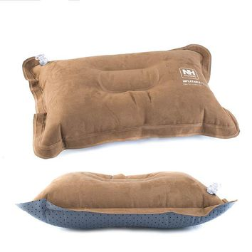 Outdoor fast Inflatable Pillow Flocking Seat Cushion Lumbar Pillows Portable Flocking Cushion For MultifunctionTravel Pillow