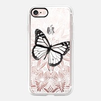 Butterfly on Lace iPhone 7 Capa by Li Zamperini Art | Casetify