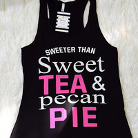 Sweet Tea & Pecan Pie Tank