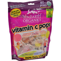 Yummy Earth Organic Vitamin C Lollipops- Over 40 Pops