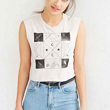 Truly Madly Deeply Fortune Teller Says Muscle Tee- White