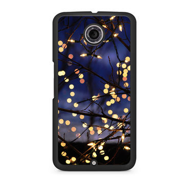 Winter Christmas lights Nexus 6 case