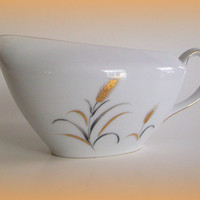 Mid Century Modern Vintage Eternal Harvest China Gravy Boat from Correct Table Service 1960's