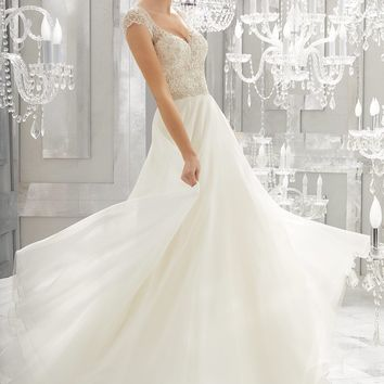 Morilee 8182 Mollie Beaded Chiffon A-Line Wedding Dress