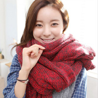 Knitted Wool Winter Scarf