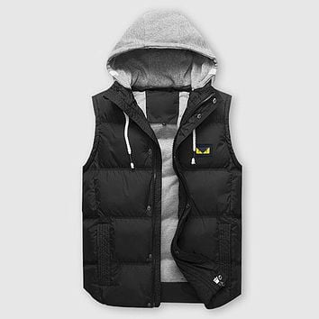 Boys & Men FENDI Fashion Down Vest Cardigan Jacket Coat Hoodie