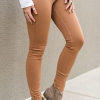 Fitted Stretchy Skinnies - Mustard