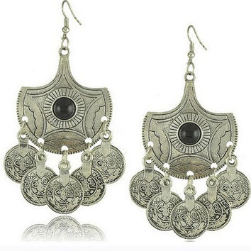 Silver Dangling-accent Earrings