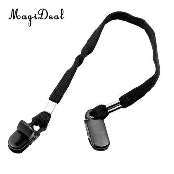 MagiDeal Outdoor Hat Scarf Wind Clip Lanyard Rope Cord - Black