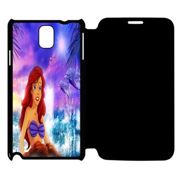 The Little Mermaid Princess Ariel Disney Collection Samsung Galaxy Note 4 Flip Case Cover