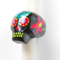 Dreadlock Bead 10mm Dread Bead Sugarskull Sugar Skull One of A Kind Hand Cast Hand Painted Resin Bead for Dreads