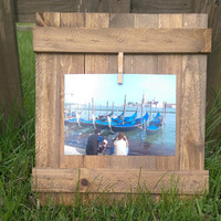 5x7 Rustic Clothespin Picture Holder Frame