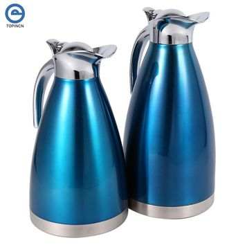1.5L 2L Stainless Steel Hot Water Bottle Double-Wall Vacuum Insulated Pot Coffee Pots Thermal Carafe Insulation Jug Flask