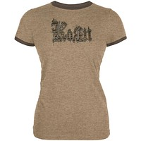 Korn - Chocolate Juniors Ringer T-Shirt
