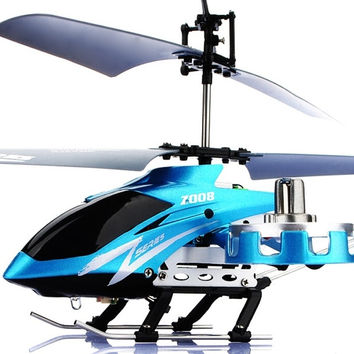 AVATAR Z008 4CH 2.4G Metal RC Remote Control Helicopter LED Light GYRO RTF Blue = 1945977732