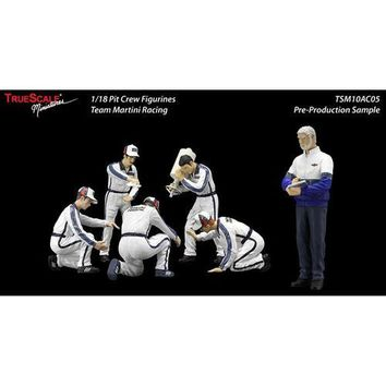 "F1 Pit Crew Figures Team ""Martini"" Racing Set of 6 pc 1/18 by True Scale Miniatures"