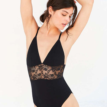 Out From Under Take That Lace Inset Bodysuit - Urban Outfitters