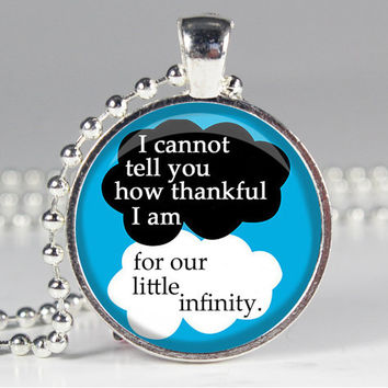 Our Little Infinity -  The Fault in Our Stars - John Green - Book Quote Charm Necklace