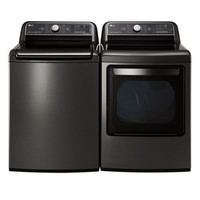 Shop LG 7.3-cu ft Electric Dryer (Black Stainless Steel) ENERGY STAR at Lowes.com