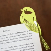 Our Workshop | Lime Green Bird Metal Book Mark