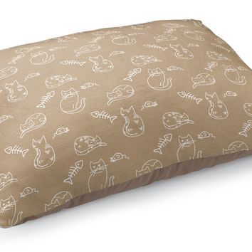 CAT AND MOUSE NEUTRAL PATTERN Pet Bed By Northern Whimsy
