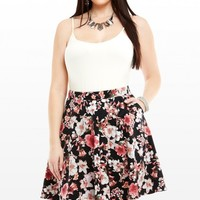 Plus Size Jennifer Floral Flare Skirt | Fashion To Figure