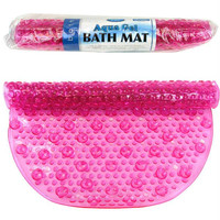 Pink Aqua Gel Bubbled Bath Mat As Seen on TV 16 x 27 Inches