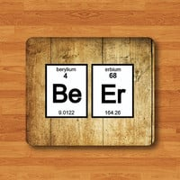 Periodic Table BEER Chemistry Wooden Mouse Pad Office Desk Deco Mousepad Art Boss Gift Personalized Computer Work Pad Nerdy Science Printed