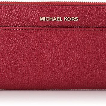 Michael Kors Women's Mercer Continental Pocket Money Piece Leather Wallet