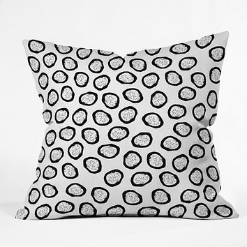 Elisabeth Fredriksson Dragon Fruit Dots 1 Throw Pillow
