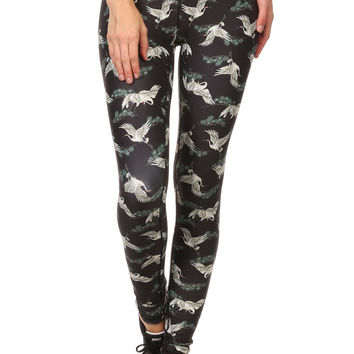 Japanese Crane Dream Leggings