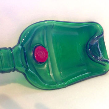 Slumped Tanqueray gin bottle plate