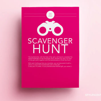 Bachelorette Scavenger Hunt - Bachelorette Party Game, Bachelorette Game