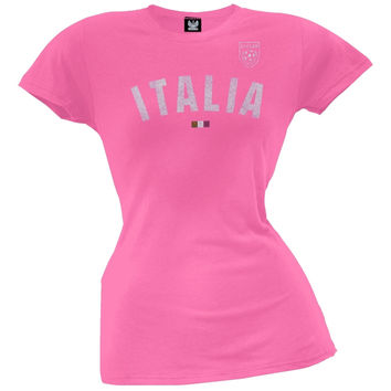 Italia Bright Glitter Juniors Soccer T-Shirt