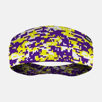 Digital Camo Yellow Purple White Headband