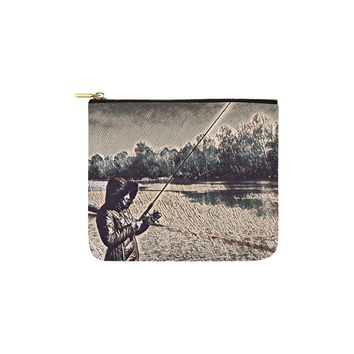 Levi Thang Fishing Design 20 Carry-All Pouch 6''x5''