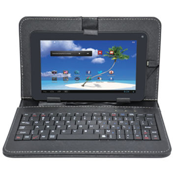 """PROSCAN PLT7100G-CK 7"""" 8GB Android(TM) 4.4 Dual Core Tablet with Case & Keyboard"""