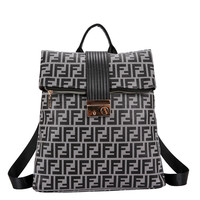 Printed shoulder bag woman new style simple soft leather fashion burglar-proof leisure large-capacity Backpack