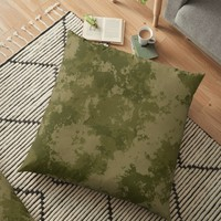 'Camo Splatter' Floor Pillow by Christy Leigh
