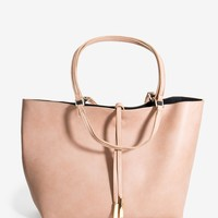 Malia Faux Leather Shopper Bag