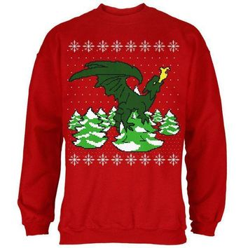 PEAPGQ9 Ugly Christmas Sweater Dragon Winter Mens Sweatshirt