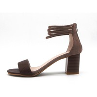 Strappy Low Heeled Sandals 2 Colors